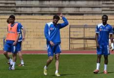 Iván Malón en un entrenamiento