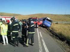 Nueve muertos en un accidente de autobús en Tornadizos (Ávila)