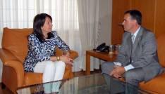 El presidente soriano y la vicepresidenta del Parlamento aragonés.