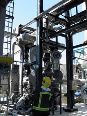 El fuego afectó a la planta de cogeneración