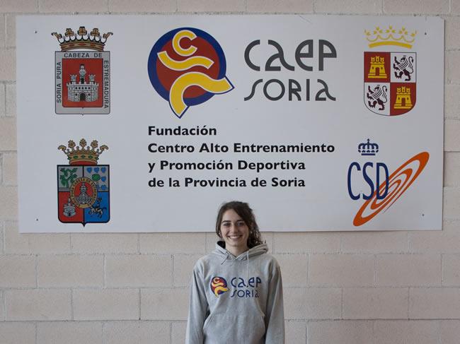 La pertiguista Laura Izquierdo