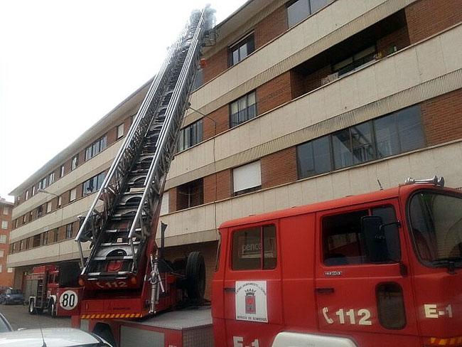 Una de las salidas de los bomberos.