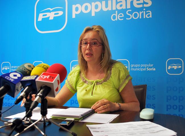 La concejal popular Mª José Fuentes.