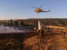 Descarga del helicóptero