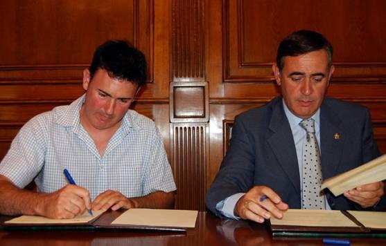 Pinilla (izda.) y Pardo.