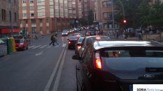 Atasco en la avenida Valladolid