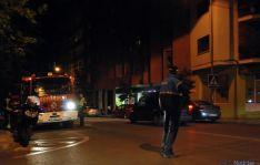 Intervención de la policía Avda Valladolid