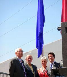 Izado de la bandera de Soria en Valladolid