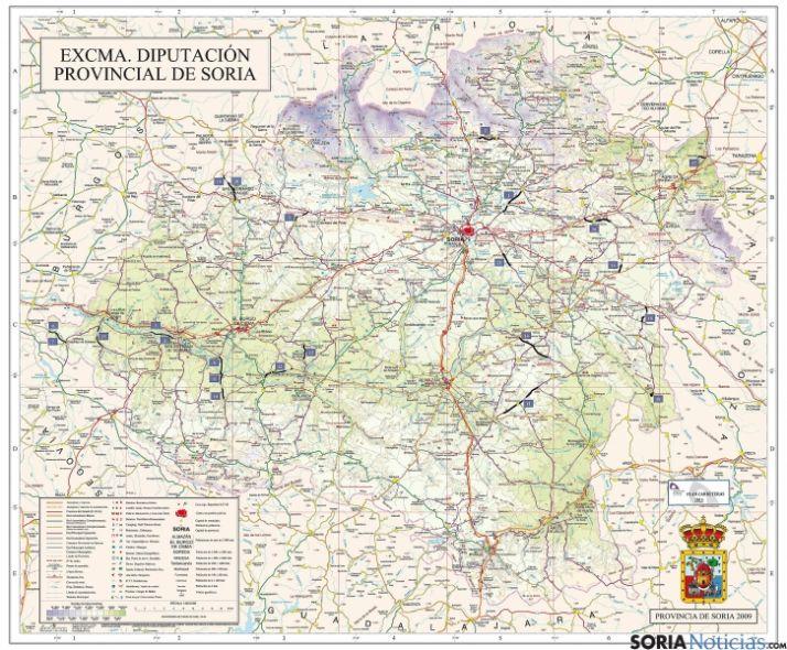 El Plan de Carreteras de la Diputación 2013 invertirá 5,5 M€ en 83 kilómetros de 21 puntos de la red provincial