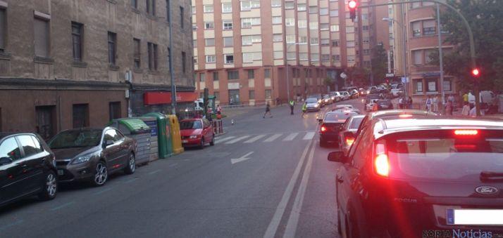 Calle San Benito durante la media maratón.