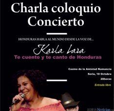 La cantante hondureña Karla Lara.