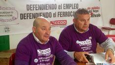 Juan Carlos Cáceres (dcha.) y Luis Gangoso.