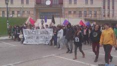 Alumnos en huelga