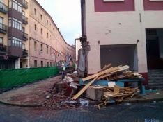 Tareas de demolición en el mercado