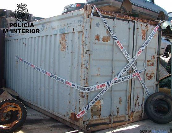 Un container con chatarra recuperado.