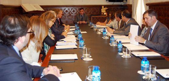 Encuentro de los interventores en el Palacio Provincial.