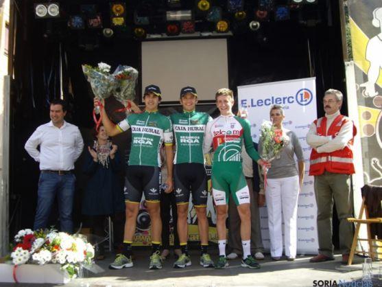 Podium puntuación ciclismo