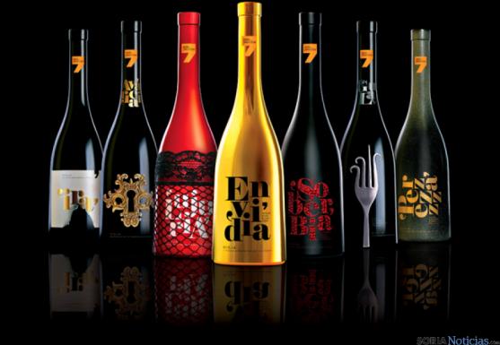 Colección vinos siete pecados