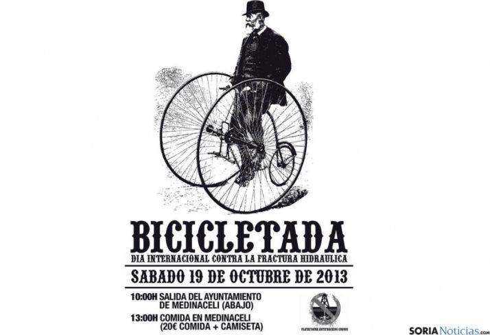 La bicicleta servirá para manifestarse contra el fracking.