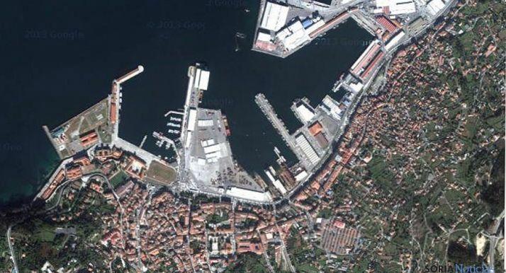 Imagen aérea de Puerto Marín, en Pontevedra.