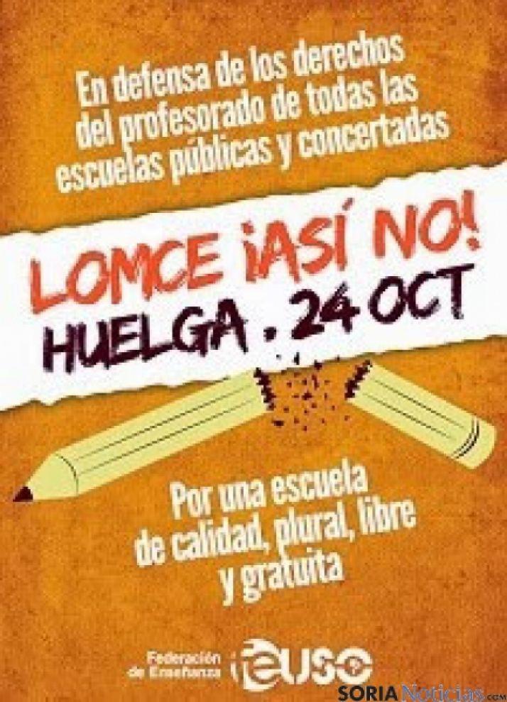 USO-cartel huelga enseñanza