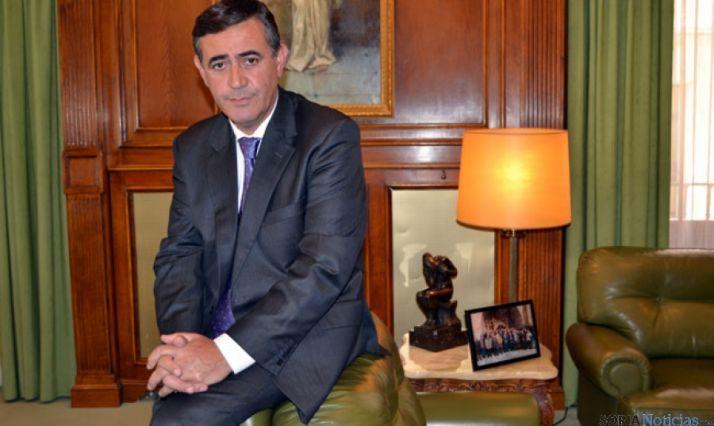 Antonio Pardo, en su despacho del Palacio Provincial de la Diputación
