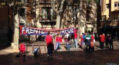 Las gaitas sorianas resuenan este sábado en Zaragoza.