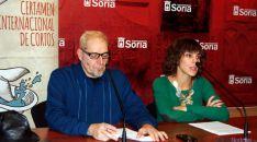 El director del certamen Javier Muñiz y la concejal Inés Andrés. / Ayto.