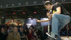 Larrodera, en su actuación en Camaretas.