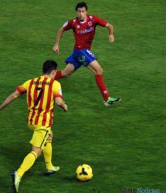 Martín cuajó una gran actuación frente al Barça B.