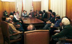 Reunión del PP con concejales de su partido en Covaleda.