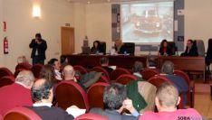 Un momento de la subasta celebrada en la Diputación.