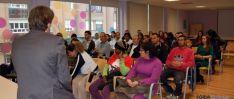 Mínguez, con los trabajadores de las ONGs