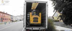 Máquina barredora robada en Almazán