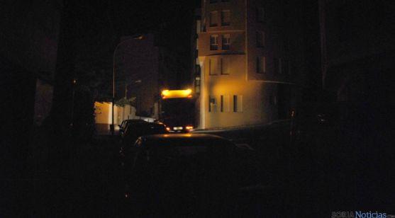 El camión de basura entre Cortes y Carabantes.