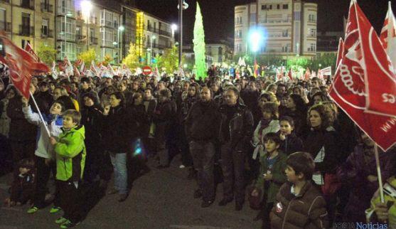 Manifestación en Soria tras la huelga general de noviembre de 2012.