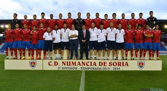 Plantilla del CD Numancia de Fútbol.