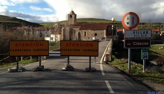 El puente cerrado este verano.