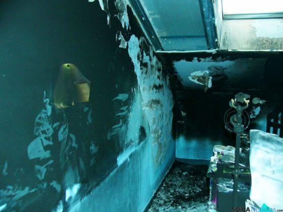 Incendio de vivienda en Ólvega