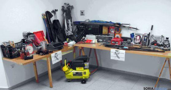 Objetos recuperados de un robo en San Leonardo