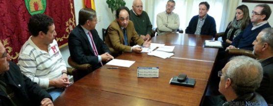 Reunión de López con los alcaldes del Moncayo