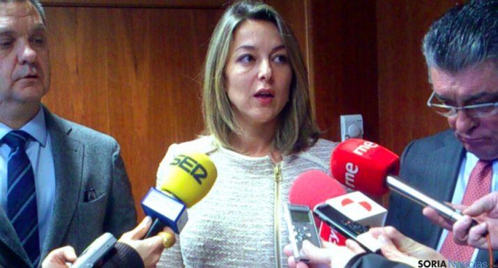 Isabel Landa, directora de la Mujer, este viernes en Soria.