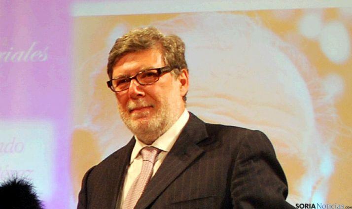Santiago Aparicio en los últimos premios de FOES.
