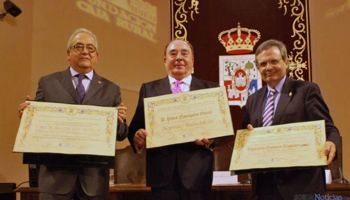 Modesto Fernández (izda.), Pedro Navalpotro y Rafael Matesanz.