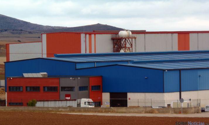 Imagen de la factoría que Rugui tiene en Ólvega y donde se ha producido el fatal accidente.