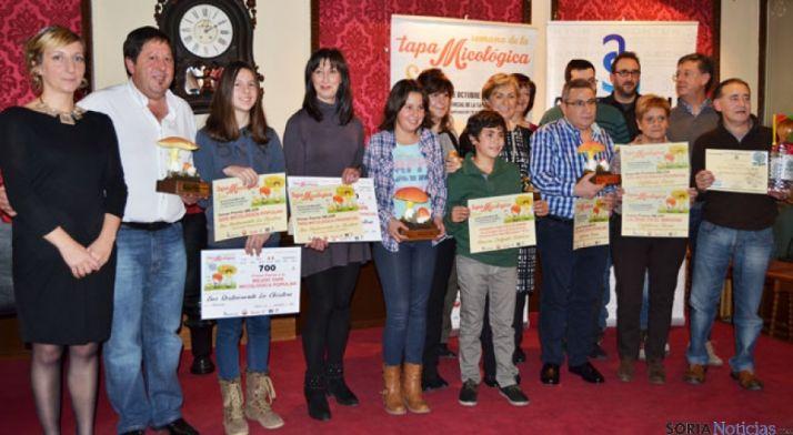 Finalistas y ganadores del  VI Concurso Provincial de la Tapa Micológica