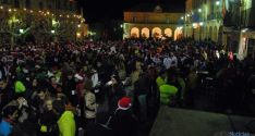 Aspecto de la Plaza Mayor de Soria esta tarde.