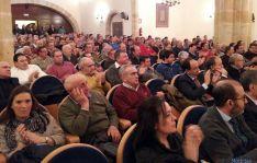 El Aula Magna Tirso de Molina, abarrotada en los premios de ASAJA. / SN