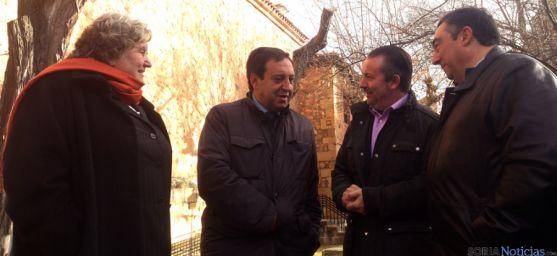 Redondo, Barato, Dujo y Gómez este viernes en Soria.