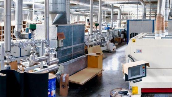Interior de una de la secciones de la factoría.